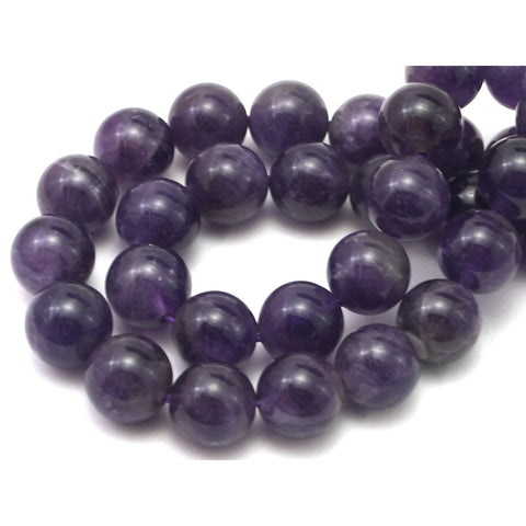 Amethyst Smooth Rounds 12mm