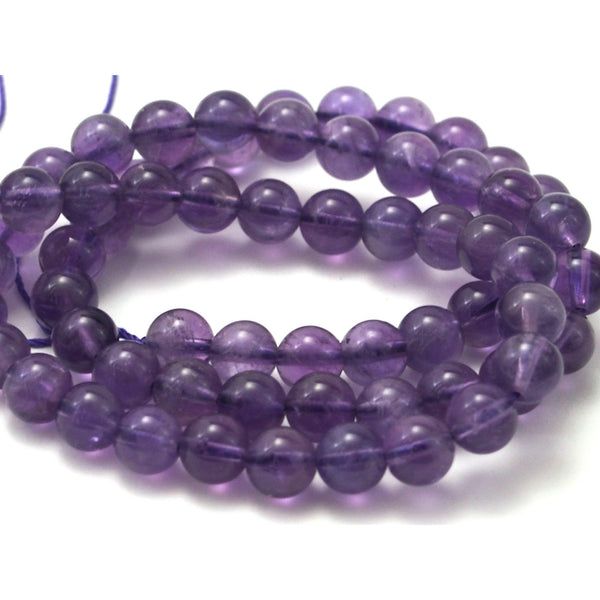 Amethyst Smooth Rounds 7mm Strand
