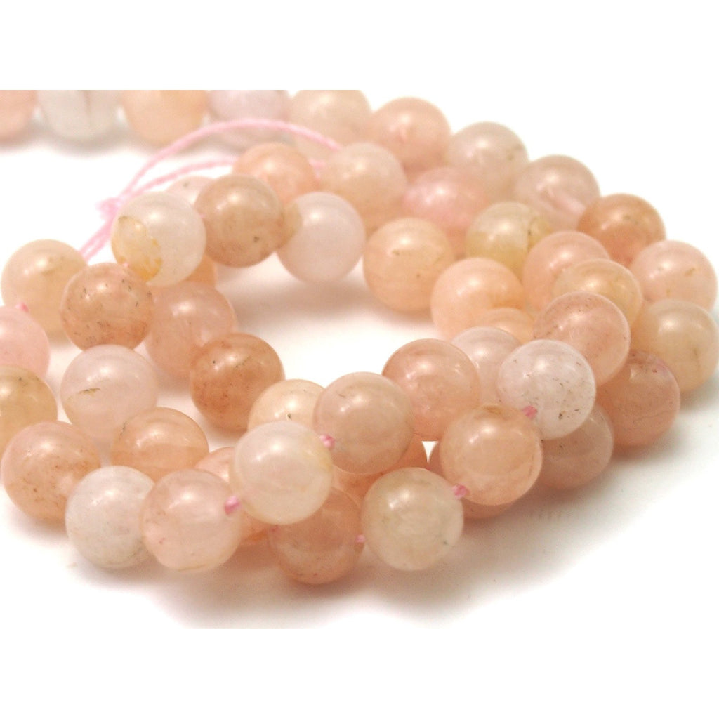 Morganite Smooth Rounds 8mm Strand