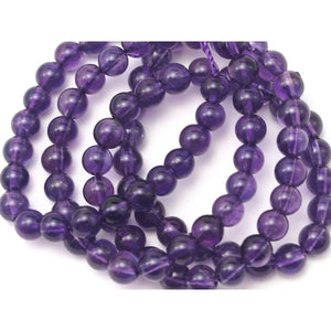 Amethyst Smooth Rounds 4mm Strand