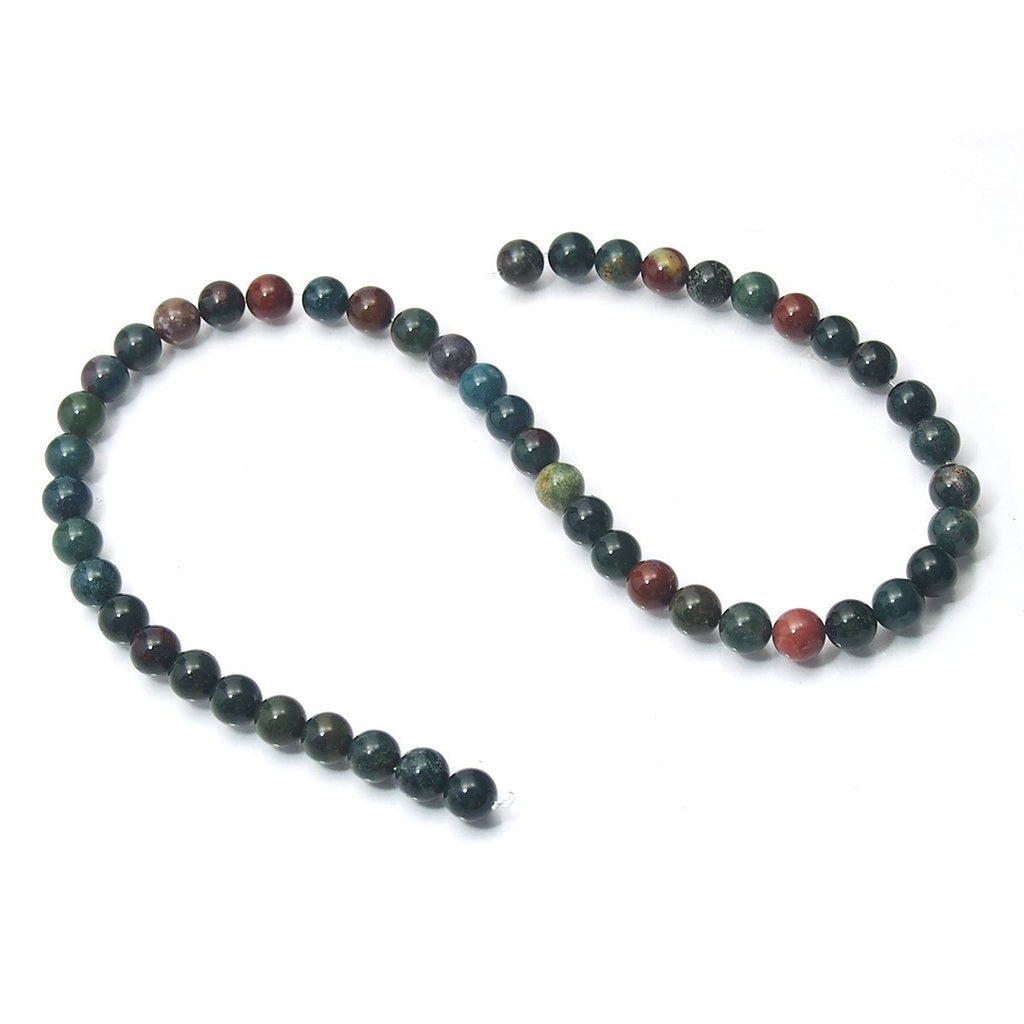 Bloodstone Smooth Round 8mm Strand