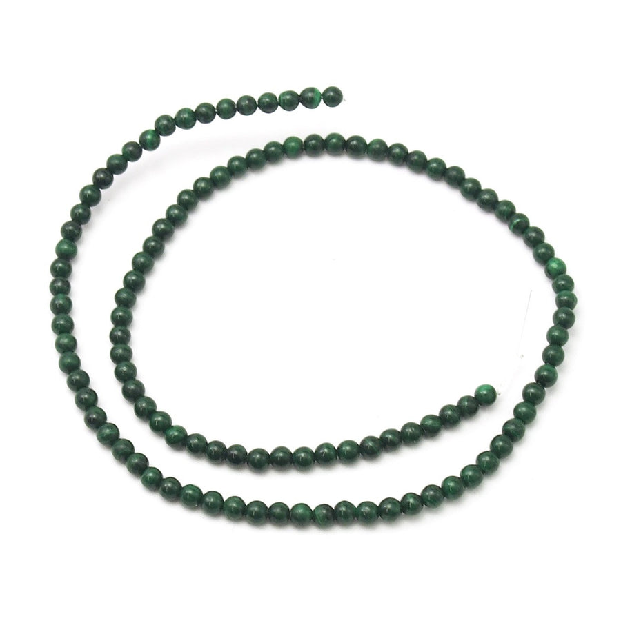 Malachite Smooth Rounds 4mm Strand