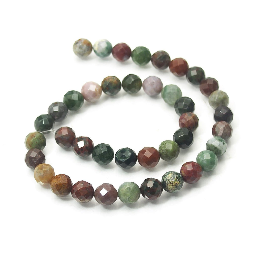 Bloodstone Faceted Rounds 10mm Strand