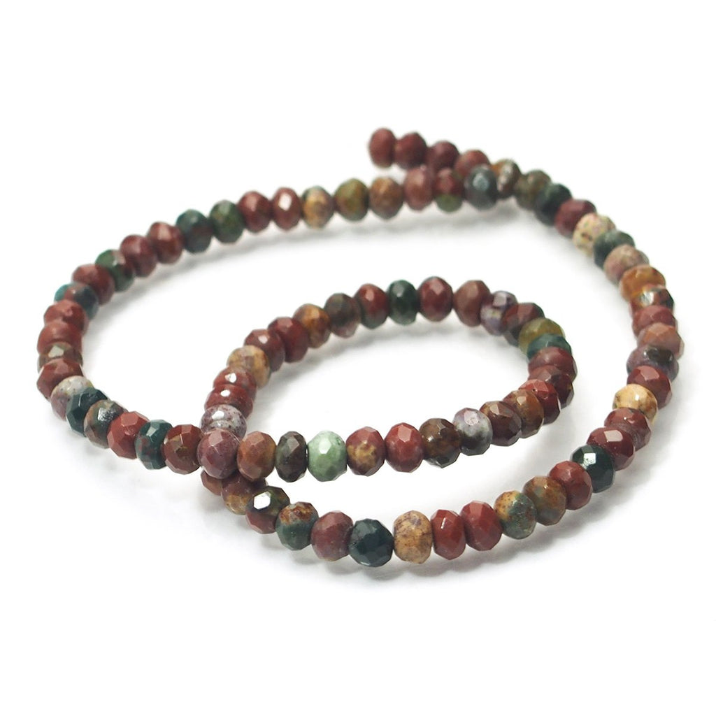 Jasper Faceted Rondelles 6mm Strand