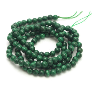 Malachite Smooth Rounds 3mm