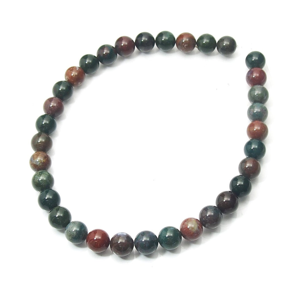 Bloodstone Smooth Rounds 12mm Strand