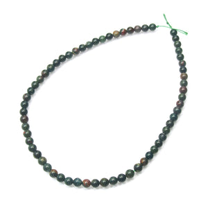 Bloodstone Smooth Rounds 6mm Strand