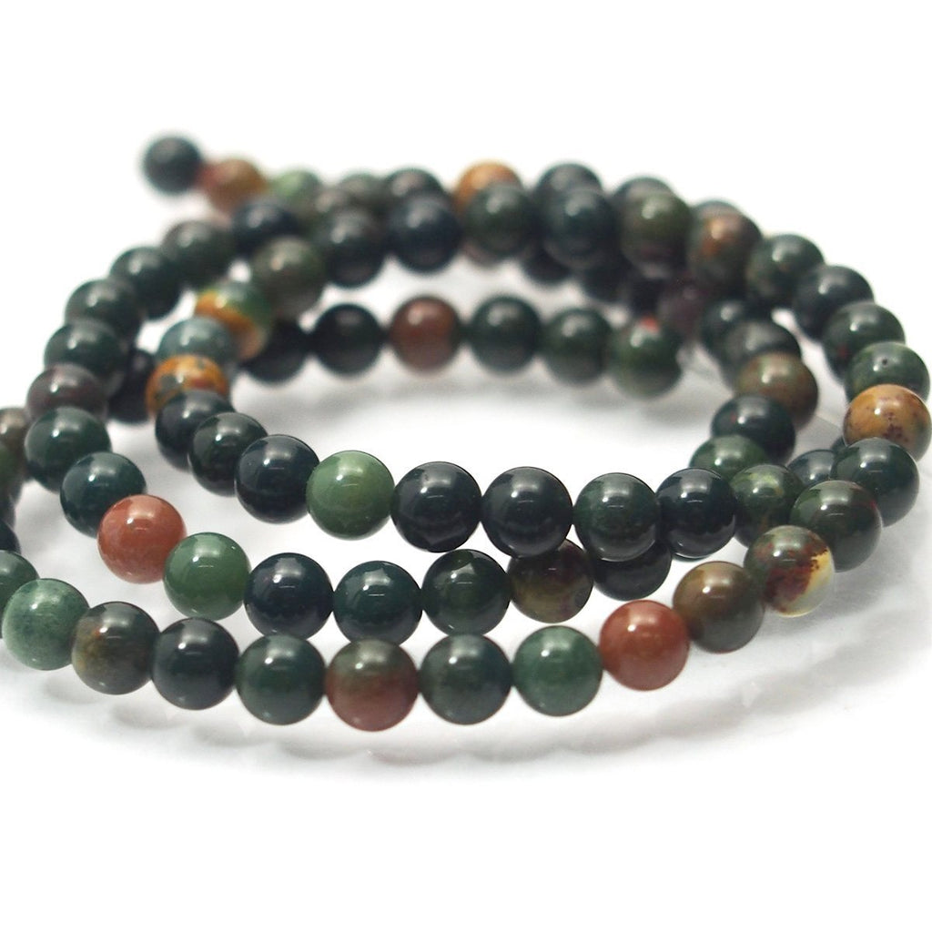 Bloodstone Smooth Rounds 4mm Strand
