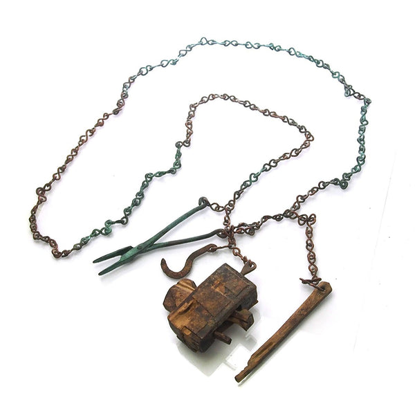 "Dogon Blacksmith/ ""Hogon"" Antique Necklace used as Talisman Magical Charm Protector During Childbirth"