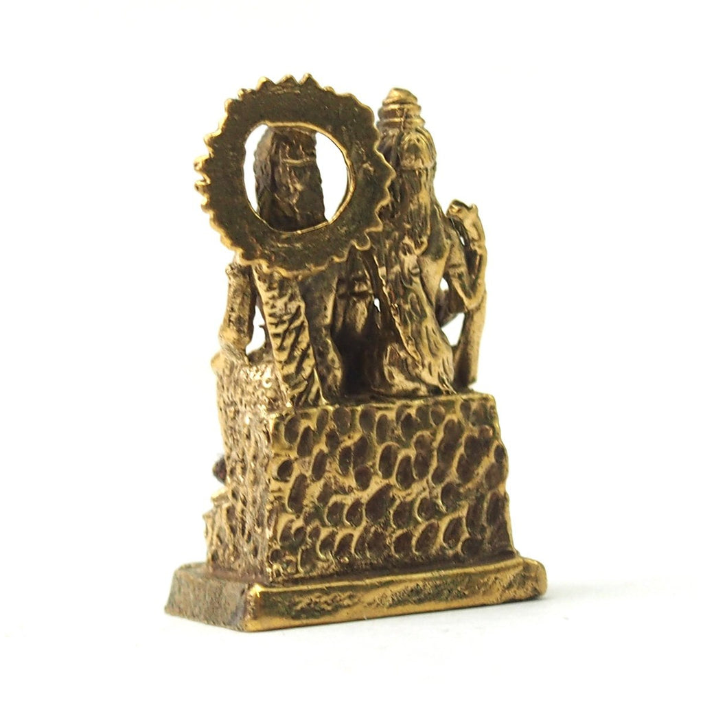 Shiva, Parvati and Ganesha Brass Statue