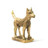 Brass Dog Statue
