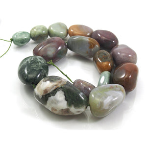 Bloodstone Fine Tumbled Nugget Strand (Option 7)