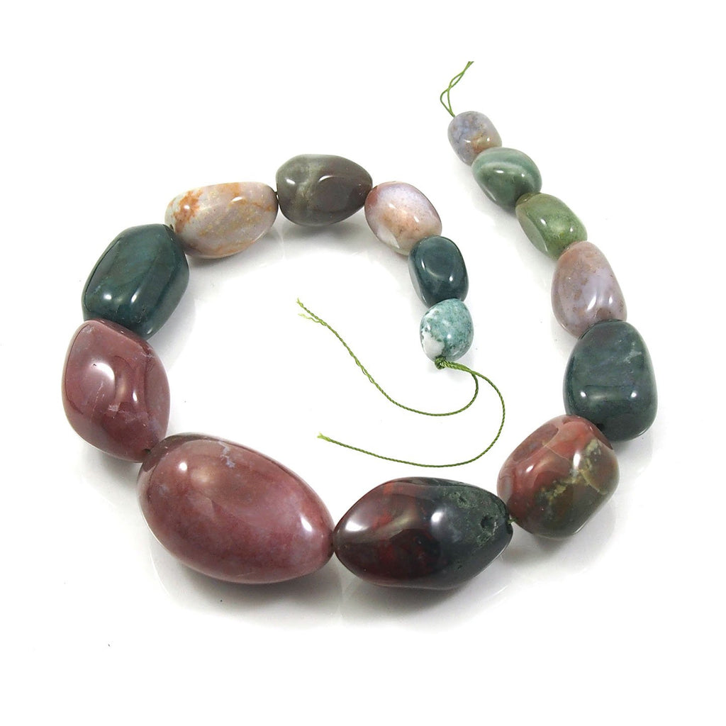 Bloodstone Fine Tumbled Nugget Strand (Option 5)