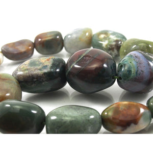 Bloodstone Fine Tumbled Nugget Strand (Option 6)