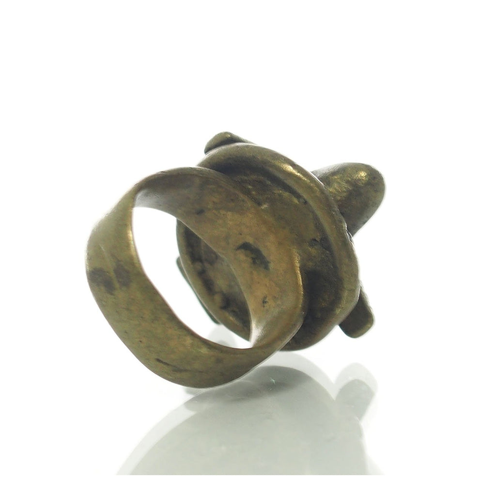 Airplane Prestige Brass Ring from Cote D'Ivoire