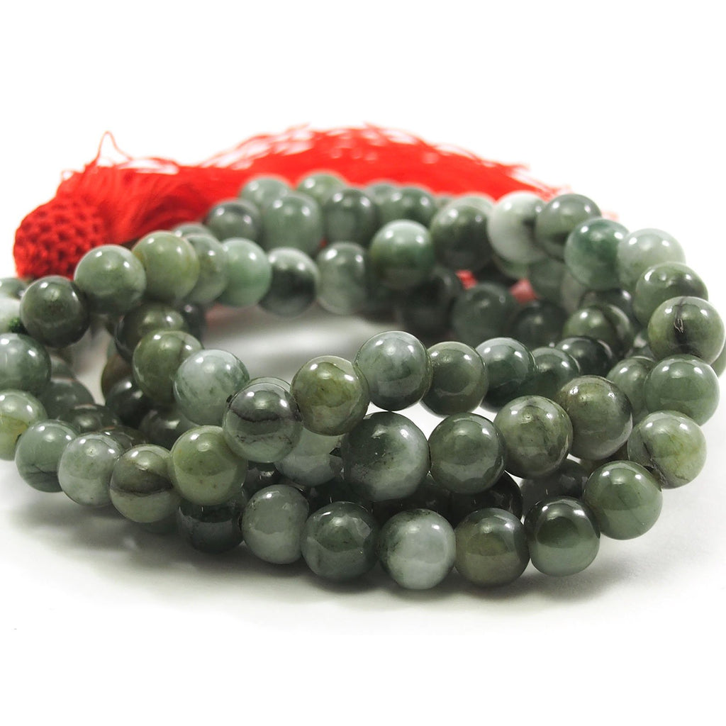 Jade Green Nephrite Mala 8mm