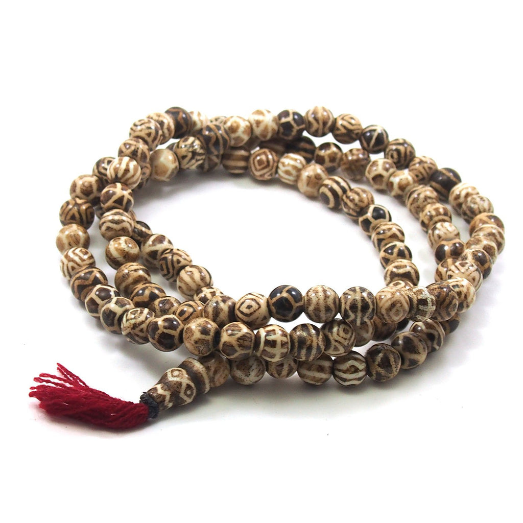 Petrified Wood Mala 11mm