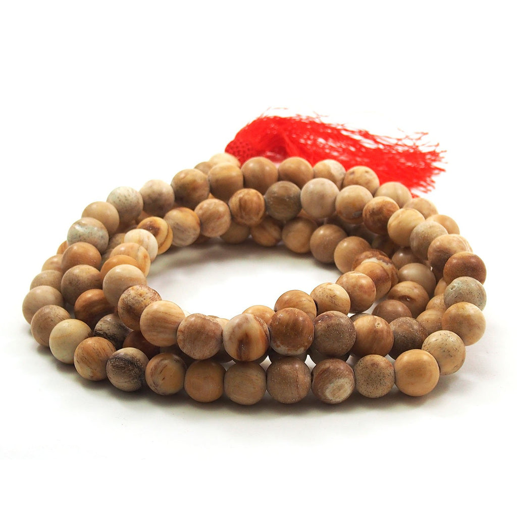 Petrified Wood Mala 12mm