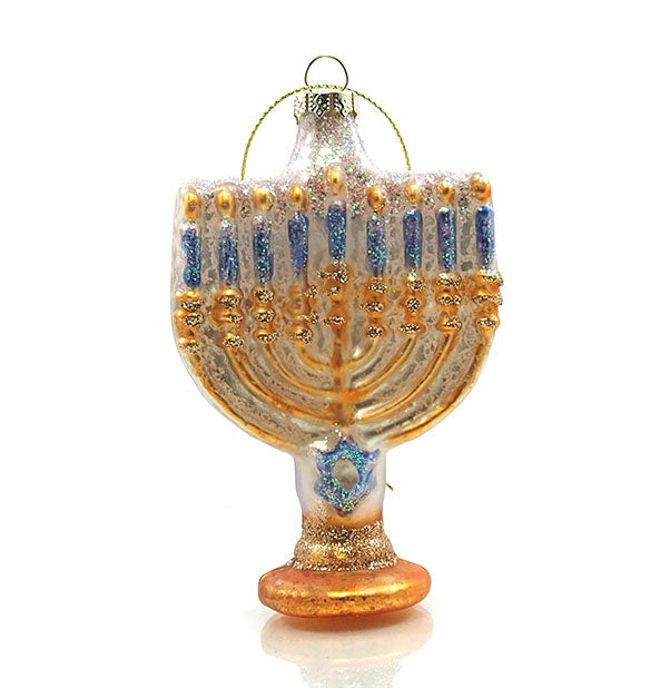 Menorah Glass Ornament