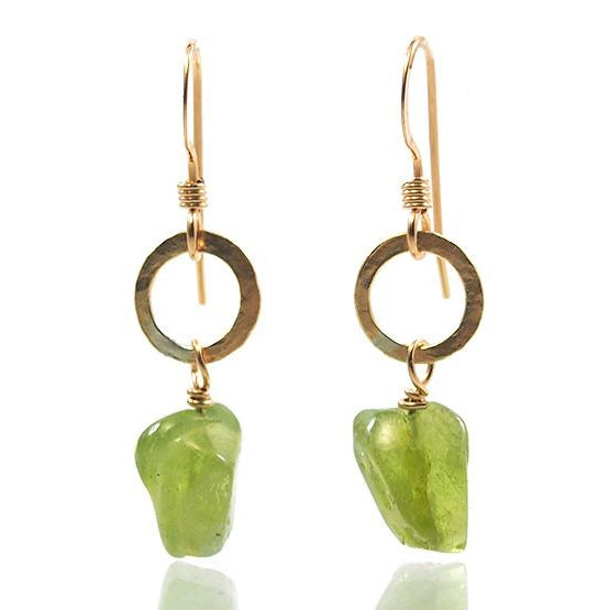 Peridot Earrings with Gold Filled Ear Wires