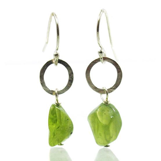Peridot Earrings with Sterling Silver Ear Wires