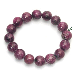 Ruby-Zoisite 13mm Stretch Bracelet
