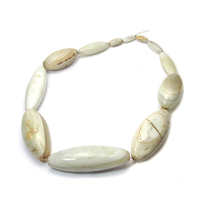 White Agate Masterpiece Heirloom Dowry Beads from Nigeria