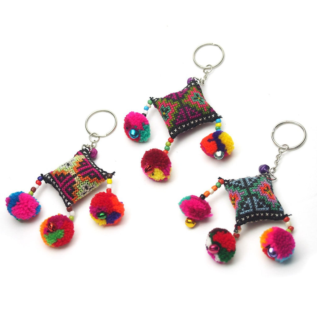 Hilltribe Bauble Keychain, D