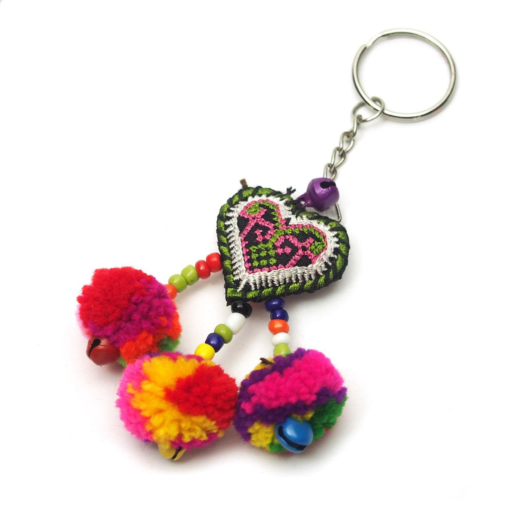 Hilltribe Bauble Keychain, C