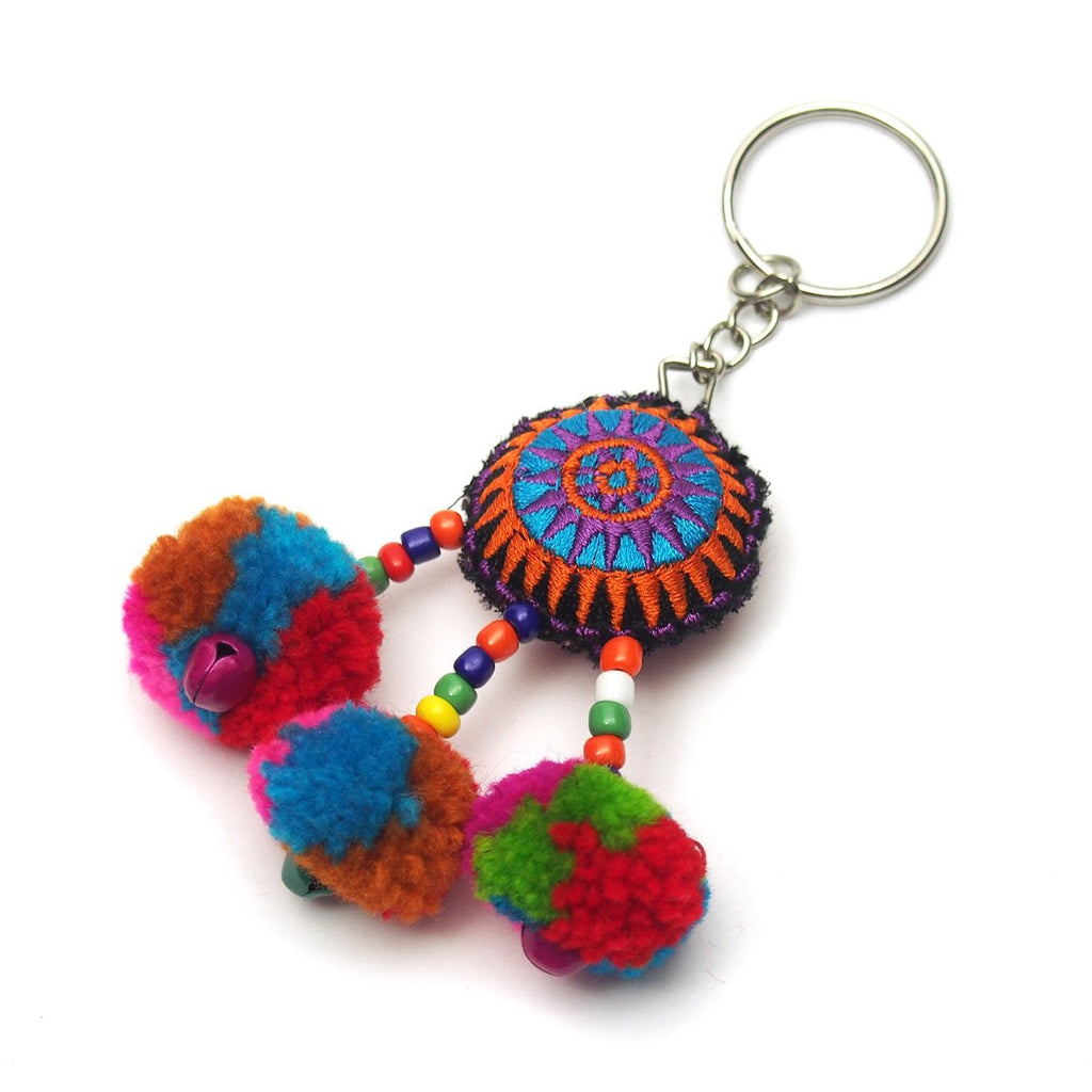 Hilltribe Bauble Keychain, E