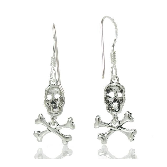 Sterling Silver Skull/Crossbone Earrings