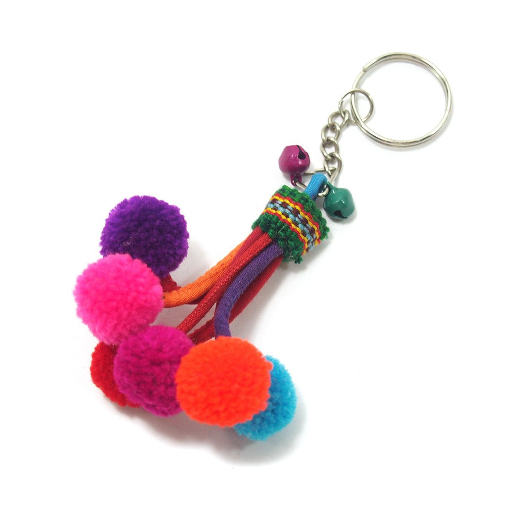Hilltribe Bauble Keychain, A