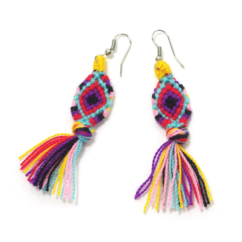 Hilltribe Crocheted Earrings, A