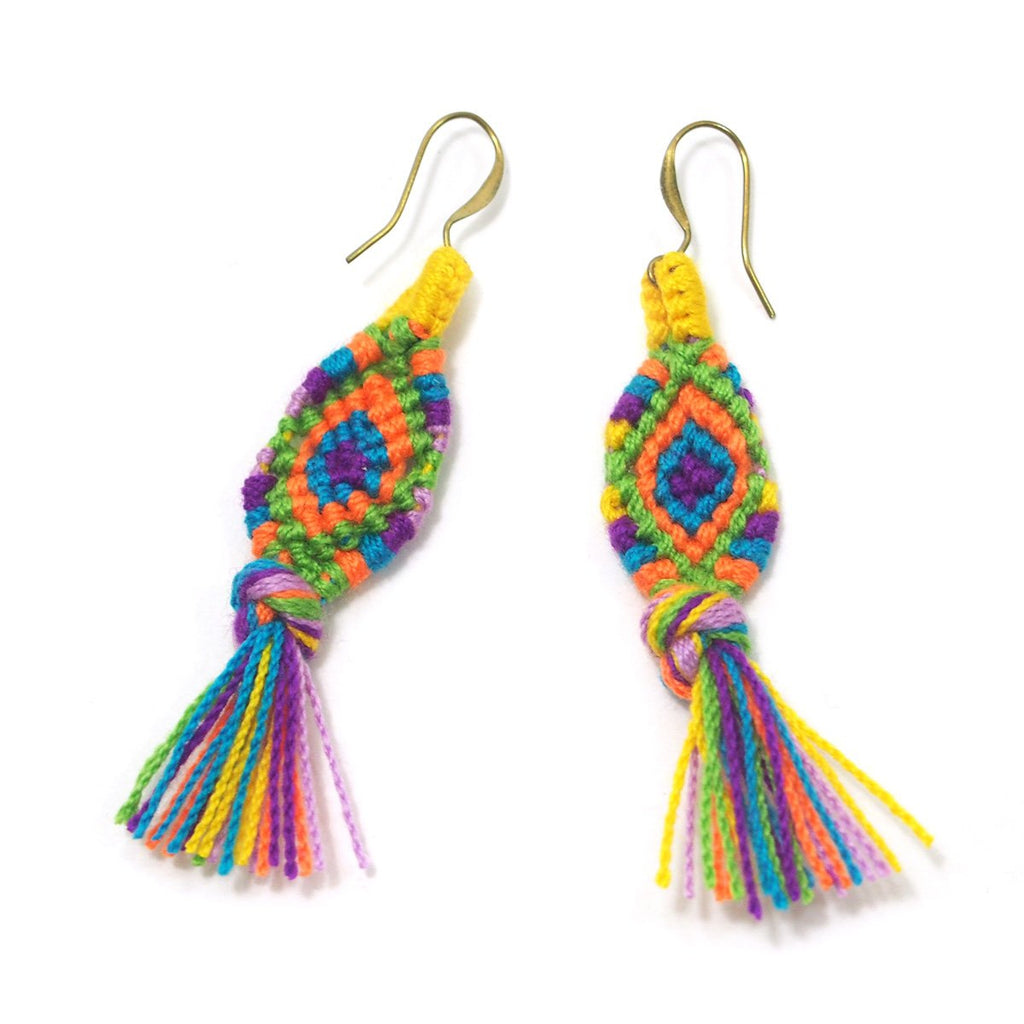 Hilltribe Crocheted Earrings, B