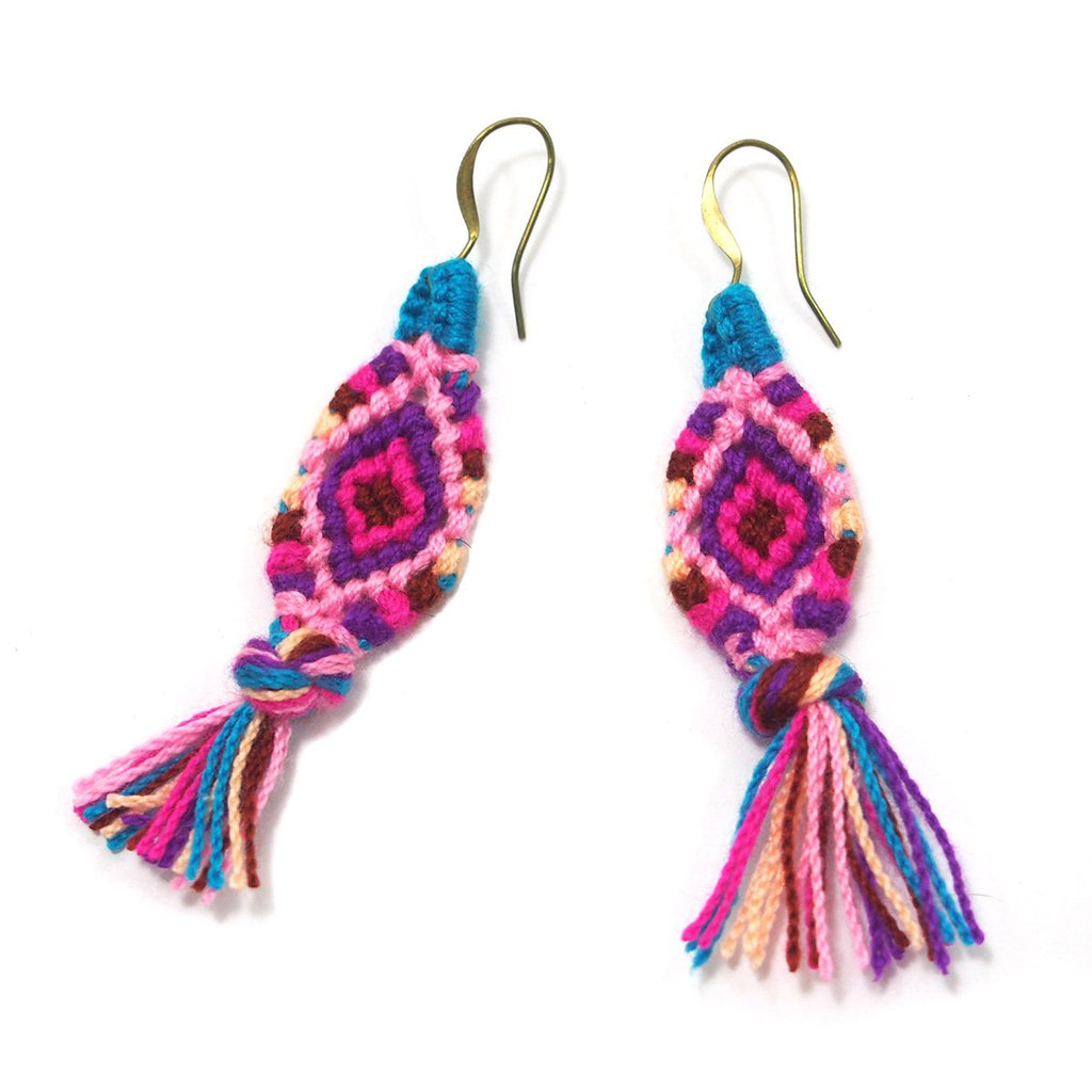 Hilltribe Crocheted Earrings, C