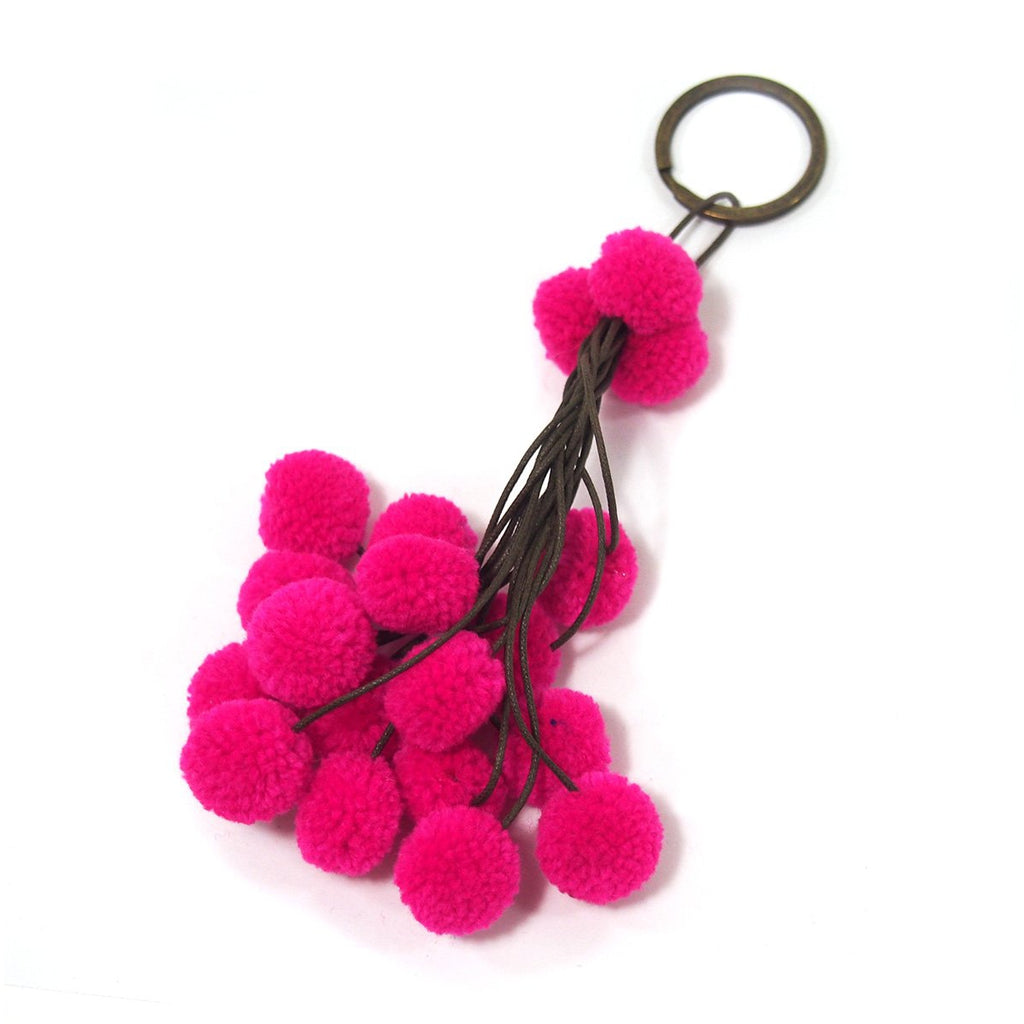 Pom Pom Tassel Keychain with O Ring, A