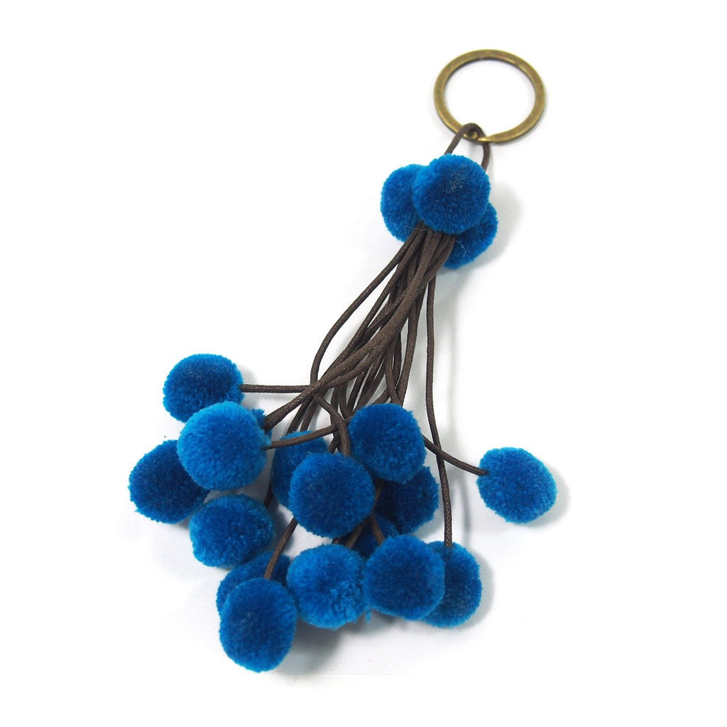 Pom Pom Tassel Keychain with O Ring, B