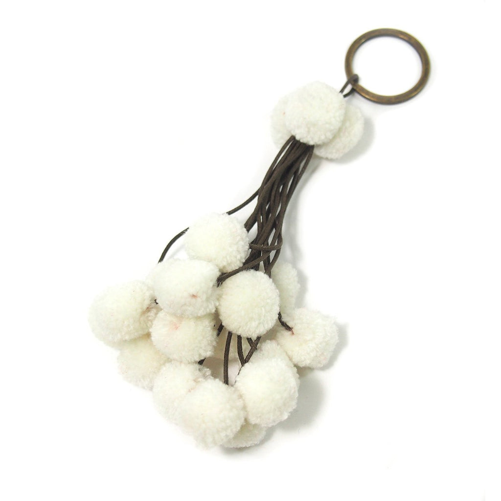 Pom Pom Tassel Keychain with O Ring, C