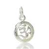Sterling Silver Tiny Ohm in Circle Pendant