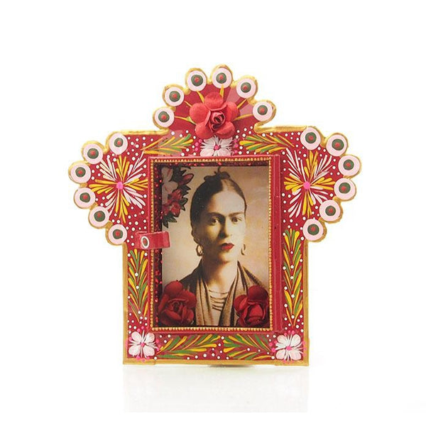Frida with Red Flower Deep Nicho