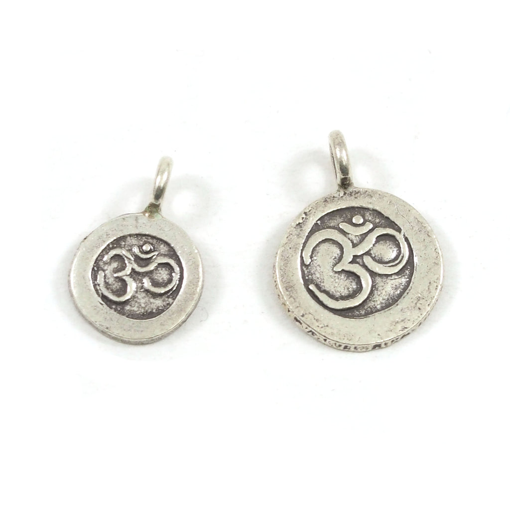 98% Pure Hill Tribe Silver Ohm Pendants 10mm and 13mm