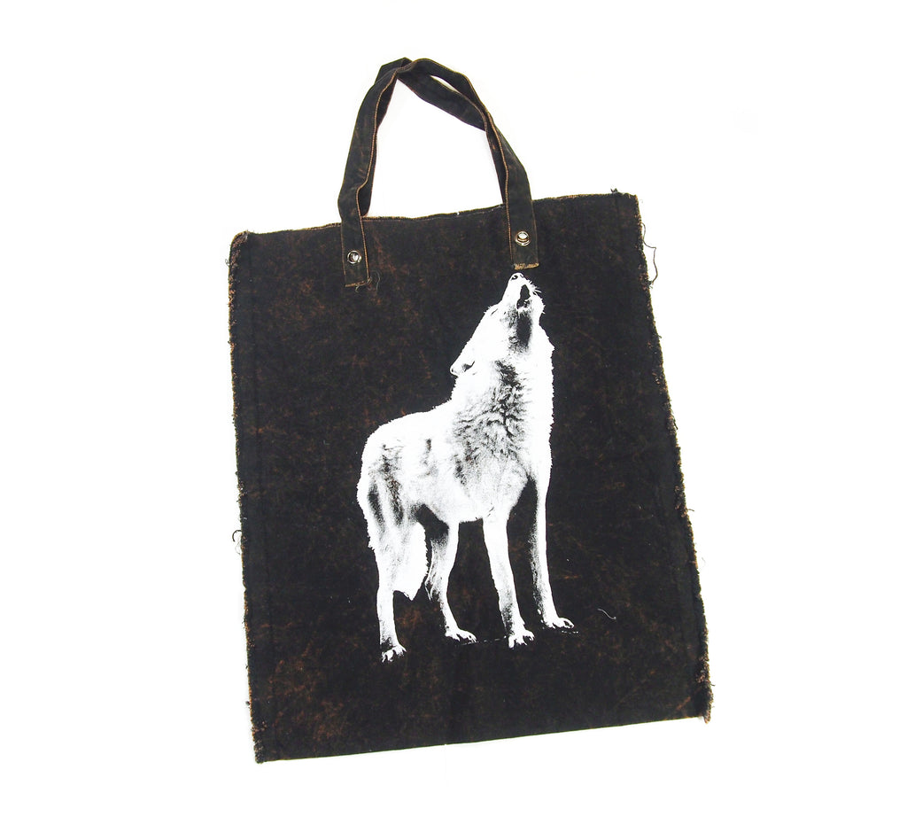 Hungry Like The Wolf Spirit Animal Oversize Tote Bag