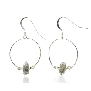 Herkimer Diamond Earrings with Sterling Silver Earwires