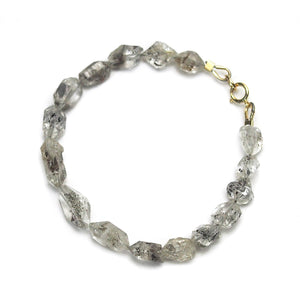 Herkimer Diamond Bracelet with Gold Filled Spring Clasp