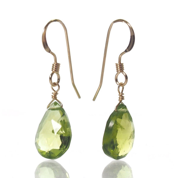 Peridot Earrings with Gold Filled French Earwires