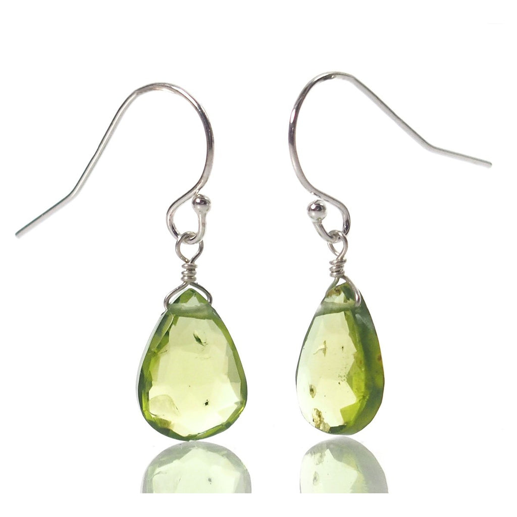 Peridot Earrings with Sterling Silver French Earwires