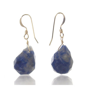 Sodalite Earrings with Gold Filled French Earwires