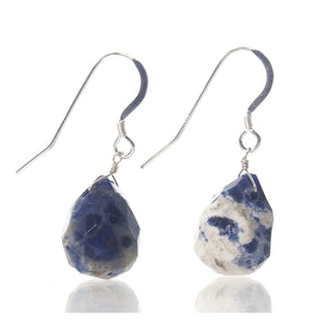 Sodalite Earrings with Sterling Silver French Earwires