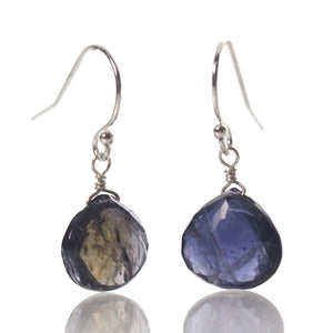 Iolite Earrings with Sterling Silver French Earwires