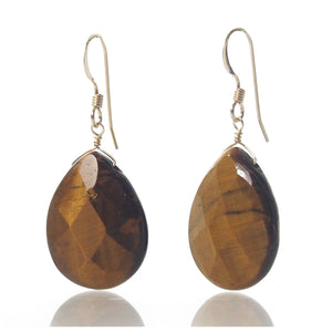 Tiger's Eye Earrings with Gold Filled French Earwires